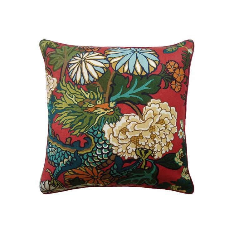 Chiang Mai Dragon Throw Pillow Lacquer Ryan Studio