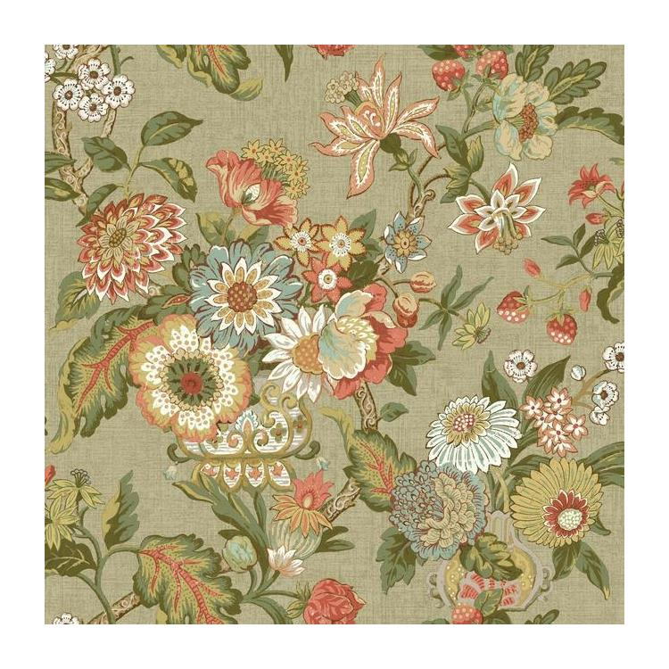 Gc8704 global chic graceful garden waverly wallpaper for Waverly wallpaper