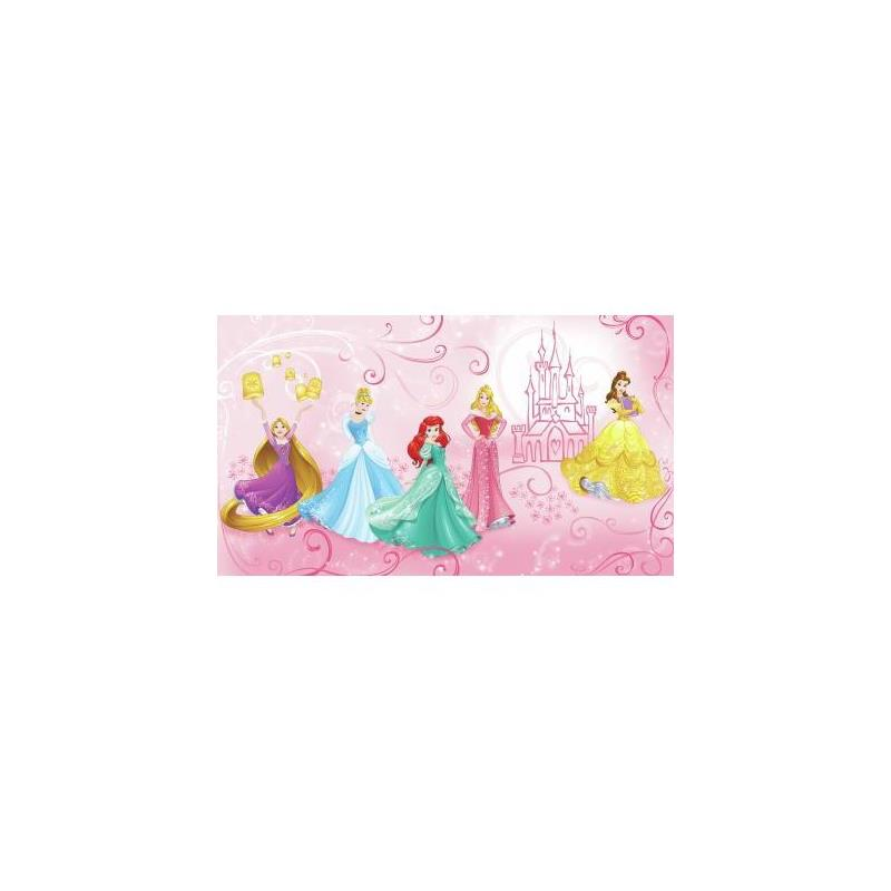 Jl1388m disney princess enchanted pre pasted mural for Pre stick wallpaper