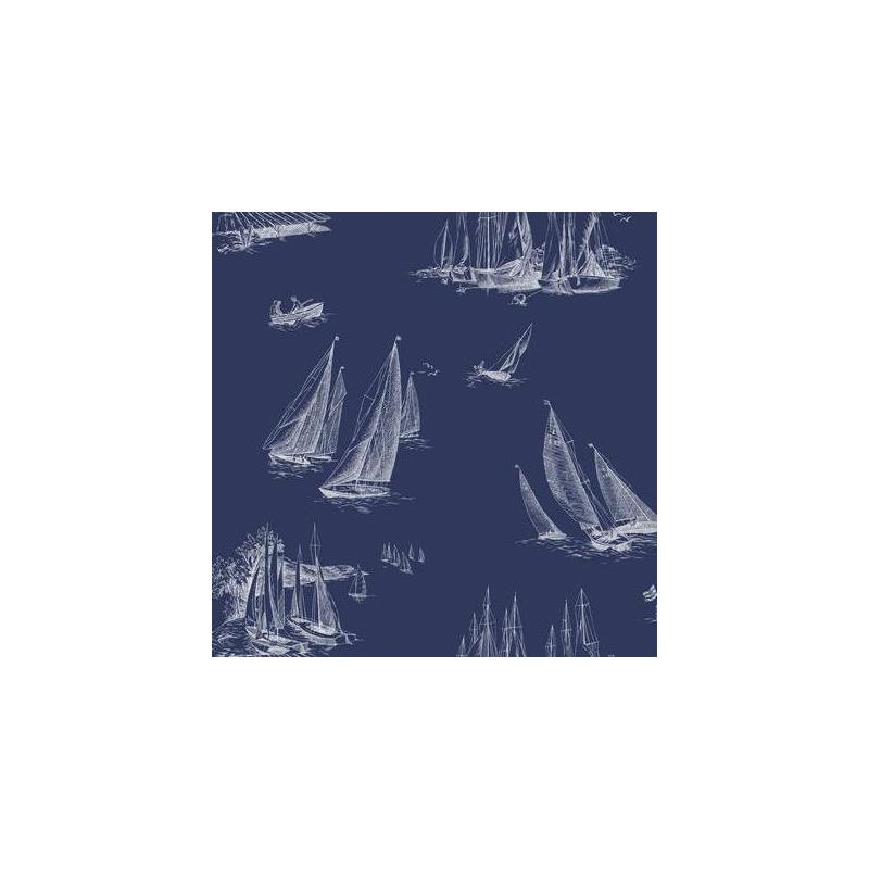 Ac6136 Inspired By Color Blue Sailboat Toile York