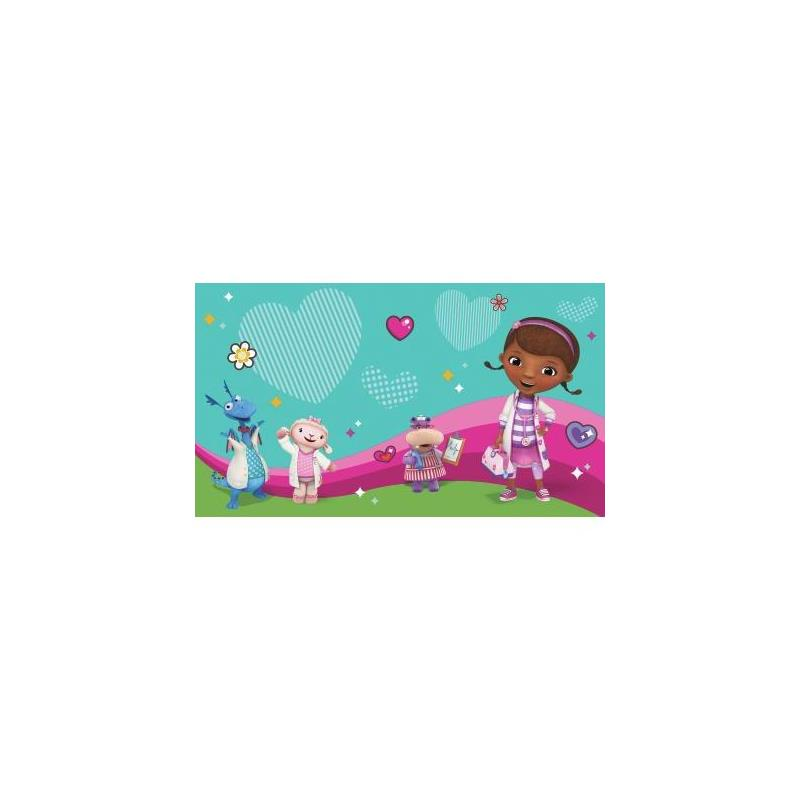 Jl1396m doc mcstuffins and friends pre pasted mural for Pre stick wallpaper