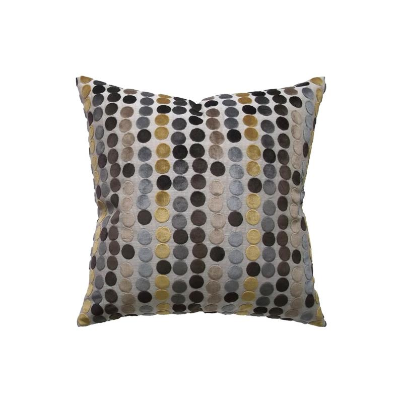Avery Dot Decorative Pillow s Gold and Brown Ryan Studio Pillows